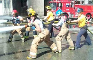 Young girls learn about the fire service, while instilling confidence at Camp Blaze. Learn more at http://campblaze.com